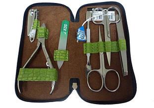 Салатовывй маникюрный набор с принтом из 7 предметов KDS 4-7105 lime