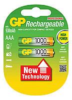 Аккумулятор бытовой GP 100ААAHC-U2 Ni-MH R03 (ААA 1,2V, 1000mAh)