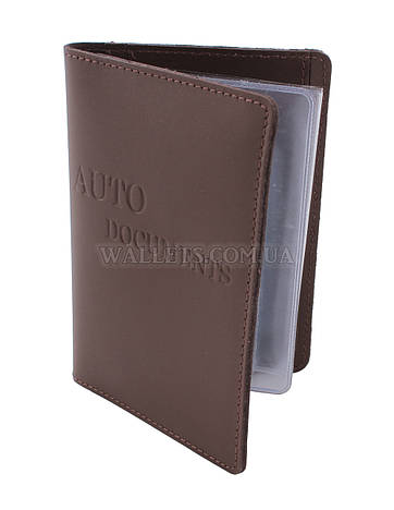 Документница для водительских прав ST, кожа, светло коричневая.