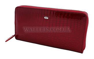 Женский кожаный кошелек ST Leather Accessories на молнии, красный, лак.