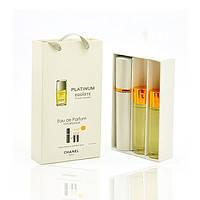 Chanel Egoiste Platinum 3x15ml - Trio Bag