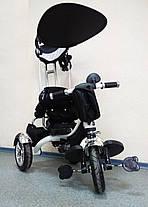 Детский трехколесный велосипед Lexus Trike KR01-А с дополнительной подножкой, надувные колеса, цвет черный, фото 3