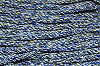 Канат декоративный акрил 8мм (50м) меланж синий, фото 1