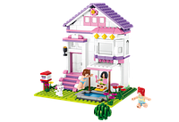 Конструктор SLUBAN MB38-B0532  Розовая мечта Загородный дом