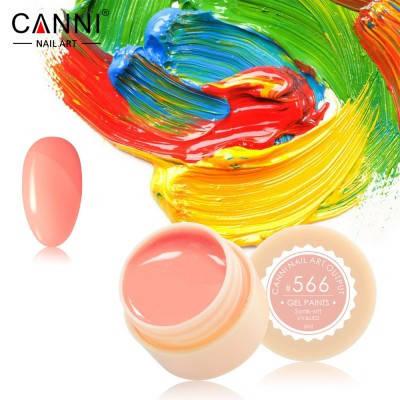 Гель-краска Canni 566 желто-розовая, фото 2