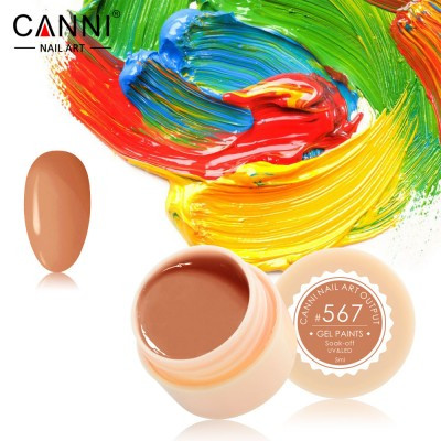 Гель-краска Canni 567 оранжевая карамель.
