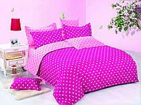 """Комплект постельного белья из сатина печатного ТМ """"Bella Donna"""" Малиновый сон. Евро"""