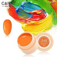 Гель-краска Canni 568 ярко-оранжевая.