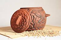 """Горшочек для запекания """"Калина"""" красная глина"""