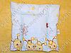 Детская подушка для новорожденных 40х40 в кроватку (много расцветок), фото 4