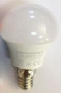Лампа светодиодная LED E14 3000K 5W шарик теплый
