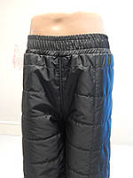 Детские штанишки черные на флисе 98-104-110-116
