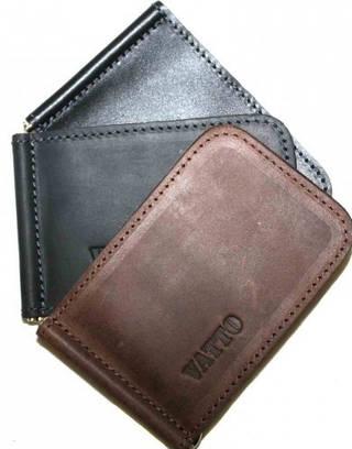 Компактный мужской зажим для денег из натуральной кожи Vatto Z2