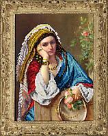 Набор для вышивания бисером Девушка в платке КИТ 40415