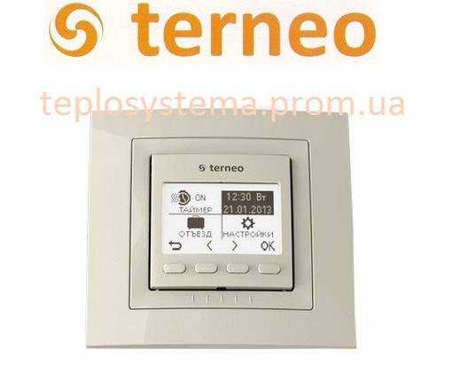 Терморегулятор для теплого пола TERNEO PRO unic (cлоновая кость), Украина, фото 2