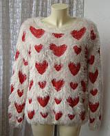 Свитер женский зимний теплый модный травка бренд Atmosphere р.48-50 5826а