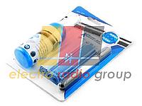 Набор чистящий GCL-1025 4 в 1, жидкость 100 мл, нейлоновая щетка, микрофибра 2 шт, блистер