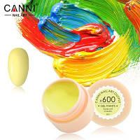 Гель-краска Canni 600 пастельная желтая.