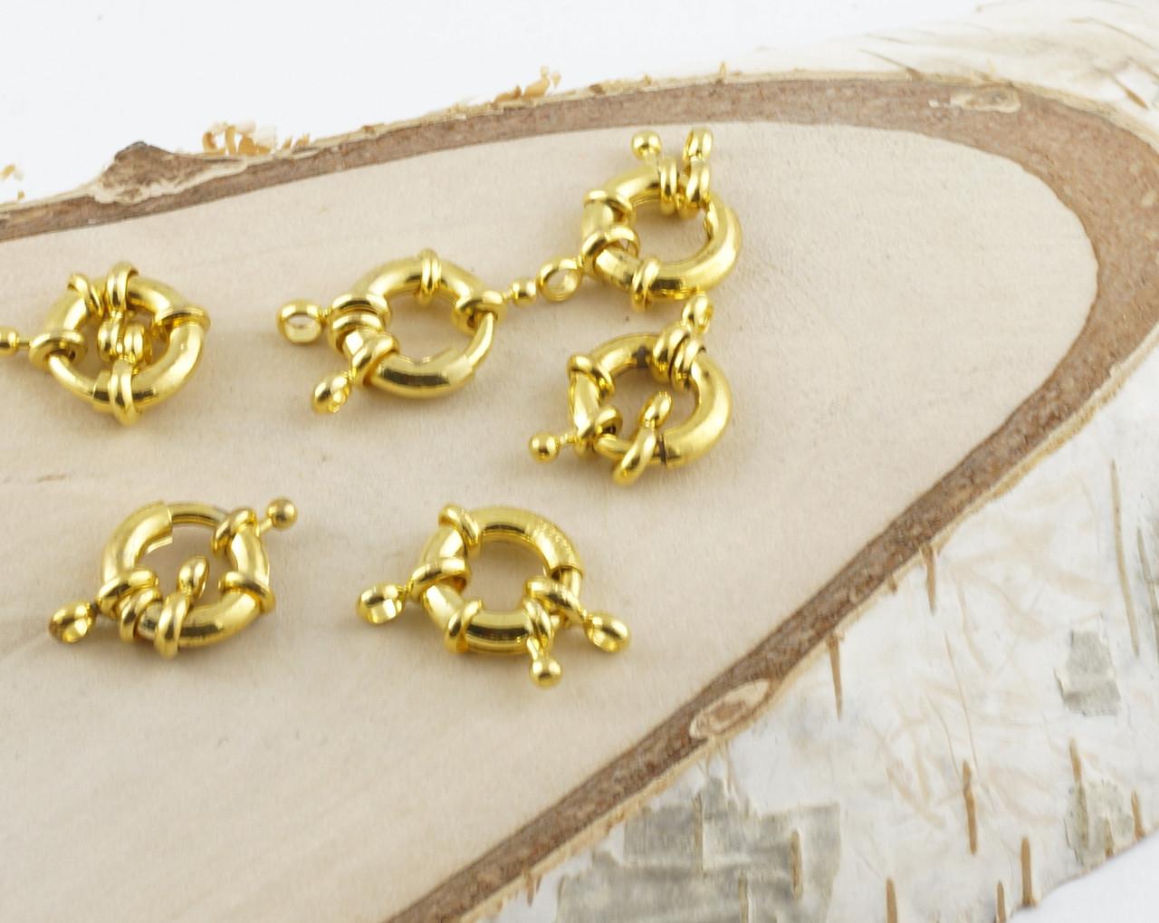 Застежка круглая золото (20 мм)