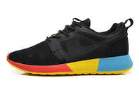 Мужские кроссовки Nike Roshe Run черная радуга