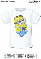 """Детская футболка с рисунком для вышивки бисером """"Миньон"""""""