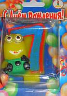 Свеча-цифра на торт 7 Миньон