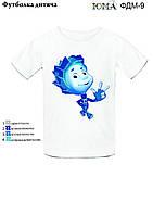 """Детская футболка с рисунком для вышивки бисером """"Нолик"""""""