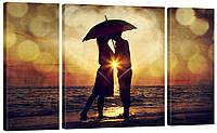Модульная картина 325 пара под зонтом