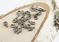 Карабин темное серебро (12мм) (10штук) (товар при заказе от 200 грн)
