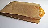 Пакет бумажный саше для хлеба бурый крафт 350*220*50  мм 1000 шт/уп