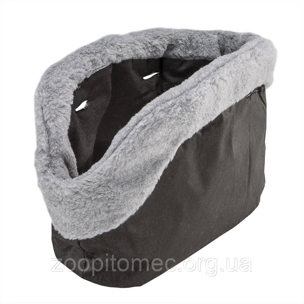 WITH-ME BEIGE Чохол для сумки, бавовна+штучн.хутро