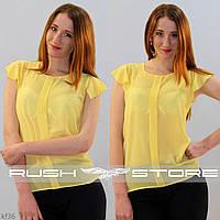 Желтая шифоновая блузка
