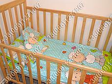 Детское постельное белье в кроватку, постельный комплект (баранчик голубой), фото 3
