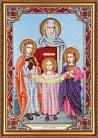 Набор для вышивки бисером на холсте «Святые Вера, Надежда, Любовь и мать их София»AB-421