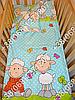 """Детское постельное белье в кроватку """"Бим Бом"""" комплект 5 ед. (баранчик голубой), фото 4"""
