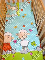 """Детское постельное белье в кроватку """"Бим Бом"""" комплект 5 ед. (баранчик голубой), фото 3"""