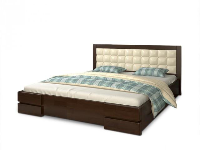 Ліжко півтораспальне з натурального дерева в спальню, дитячу Регіна (Сосна, Бук) Арбор Древ