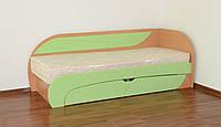Детская кровать Летро Сонько 80см х 200см бук,фисташка