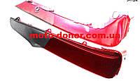 Пластик для Viper Active - защиты ног правый+левый к-кт, КРАСНЫЙ темно-серая вставка