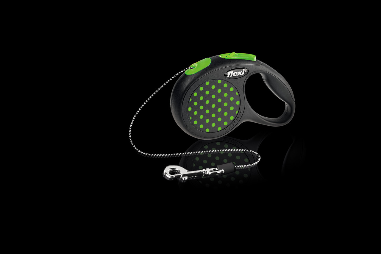 Рулетка Flexi  Design тросовый поводок длиной 3 м для собак, кошек и других мелких животных до 8 кг зеленый