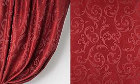 Ткань софт-велюр Интерио, Бордо