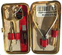 Гламурный набор для маникюра из 5 предметов Niegelon Solingen 07-0705 red