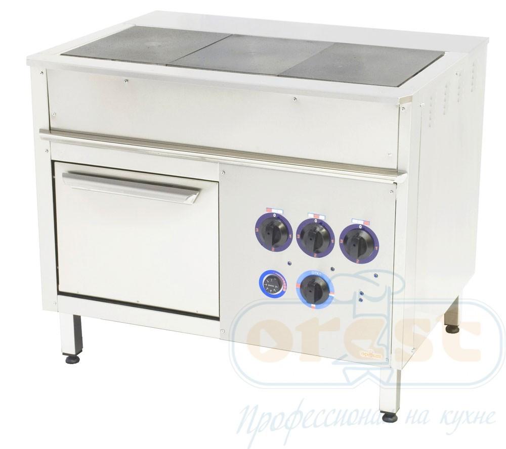 Профессиональная плита промышленная  Orest ПЭ-3-Ш (под GN 1/1)