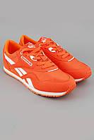 Кроссовки Reebok Classic оранжевые с белой вставкой и белой подошвой
