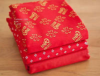 Набор отрезов ткани для пэчворка, красное