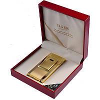 Электроимпульсовая USB зажигалка Tiger (золото)