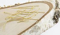 Пины с ушком золото (50мм) (10грамм)