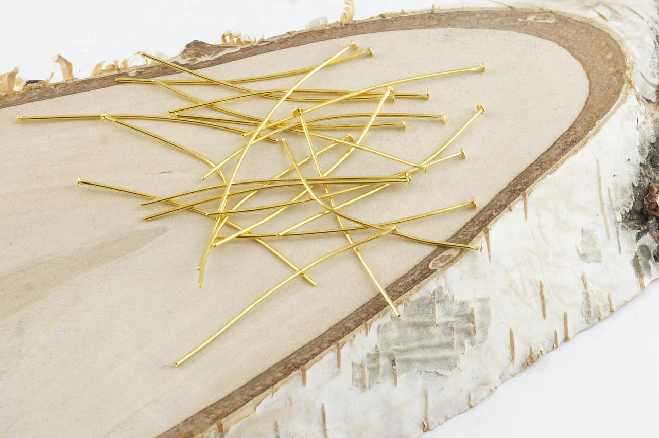 Пины гвоздик золото (50 мм) (10 грамм)