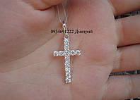 Крестик с камнями серебро 925
