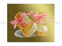 Схема вышивки бисером «Ботиночки розовые» (A4)